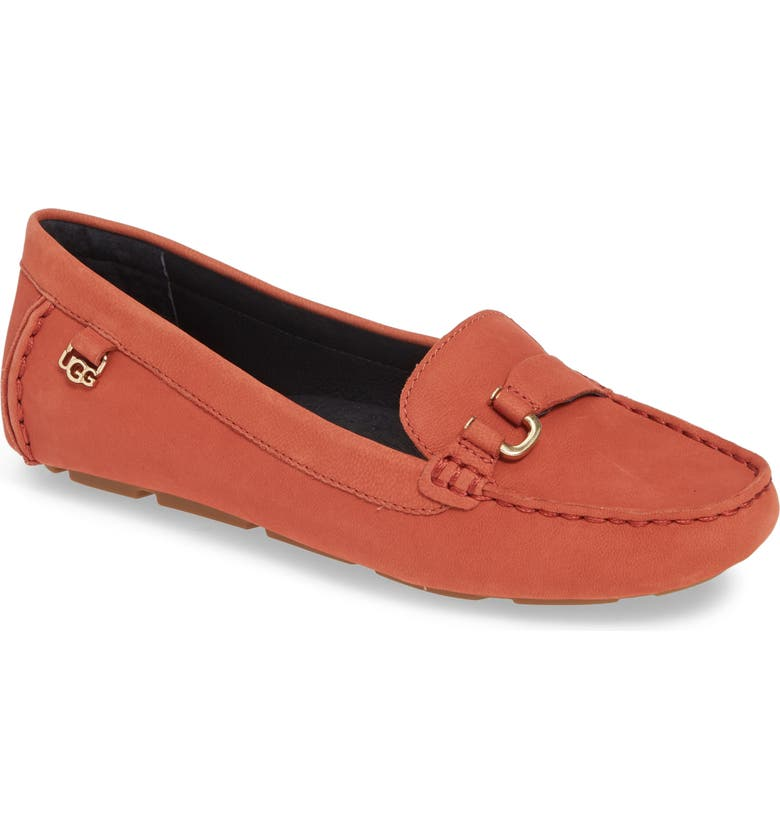 UGG<SUP>®</SUP> Callen Loafer, Main, color, TERRACOTA NUBUCK LEATHER