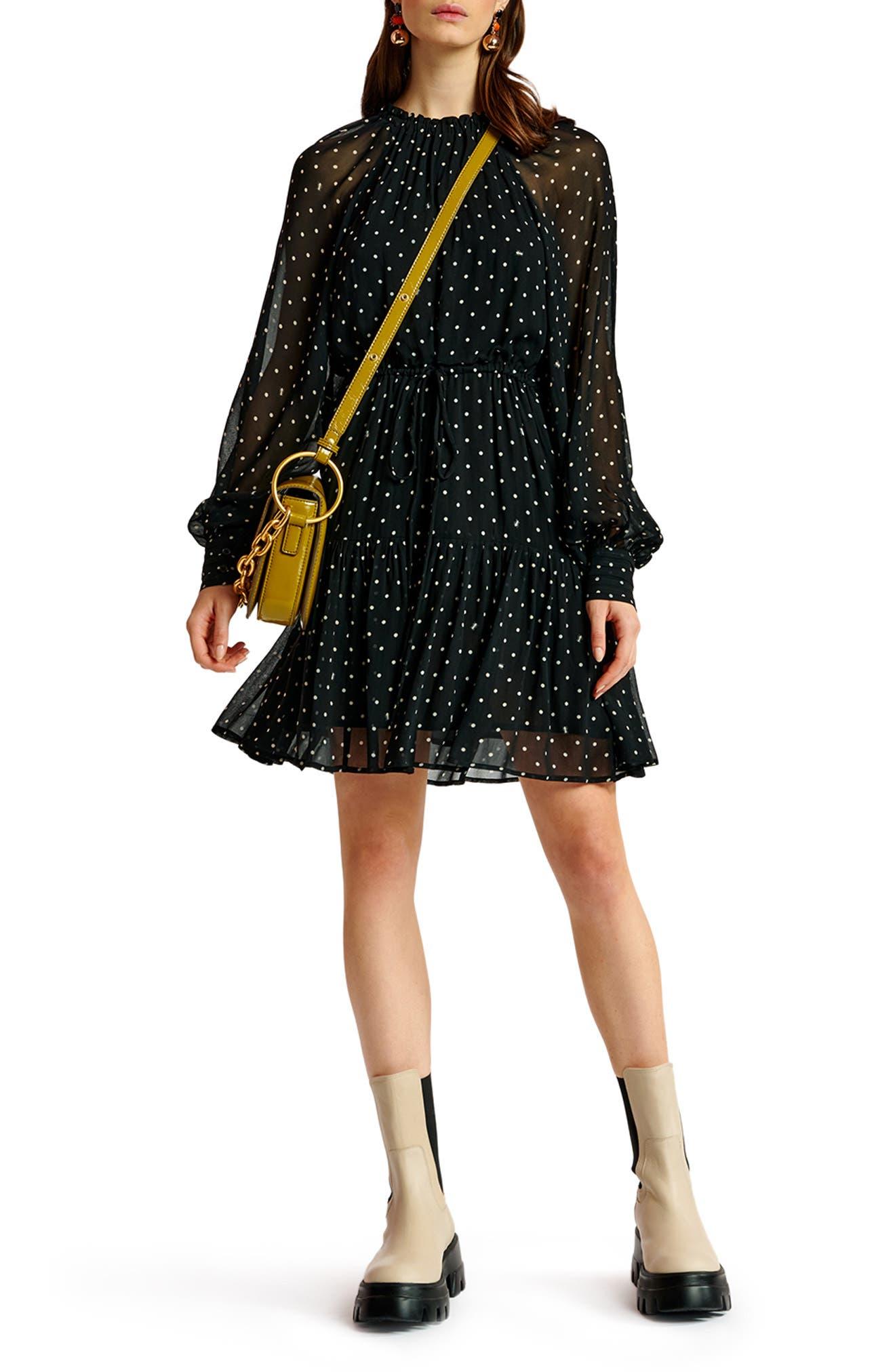 Polka Dot Long Sleeve Dress