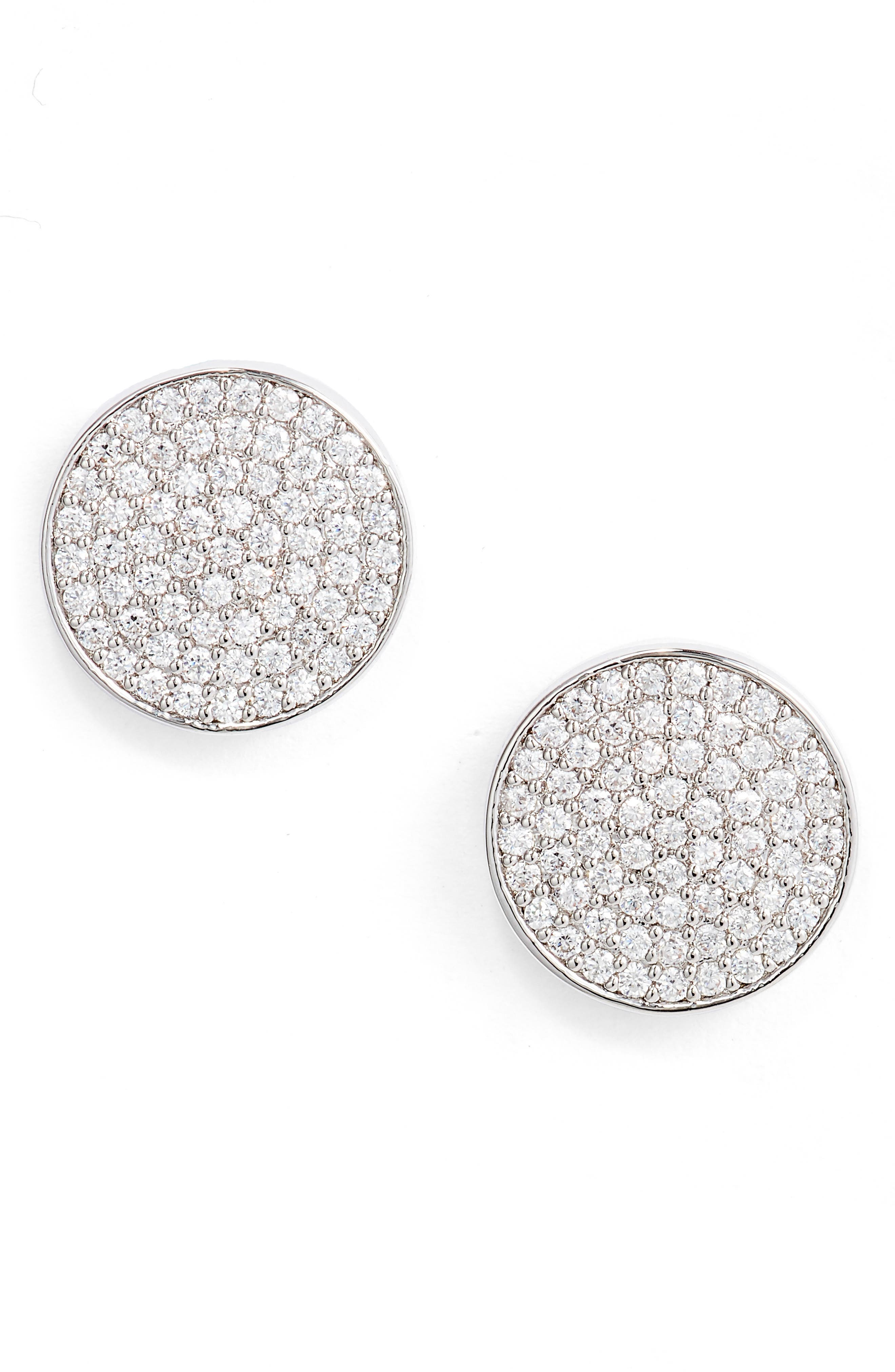 Sparkling cubic zirconia adds major sparkle and shine to these classic disc studs. Style Name: Nordstrom Pave Disc Stud Earrings. Style Number: 6016814. Available in stores.