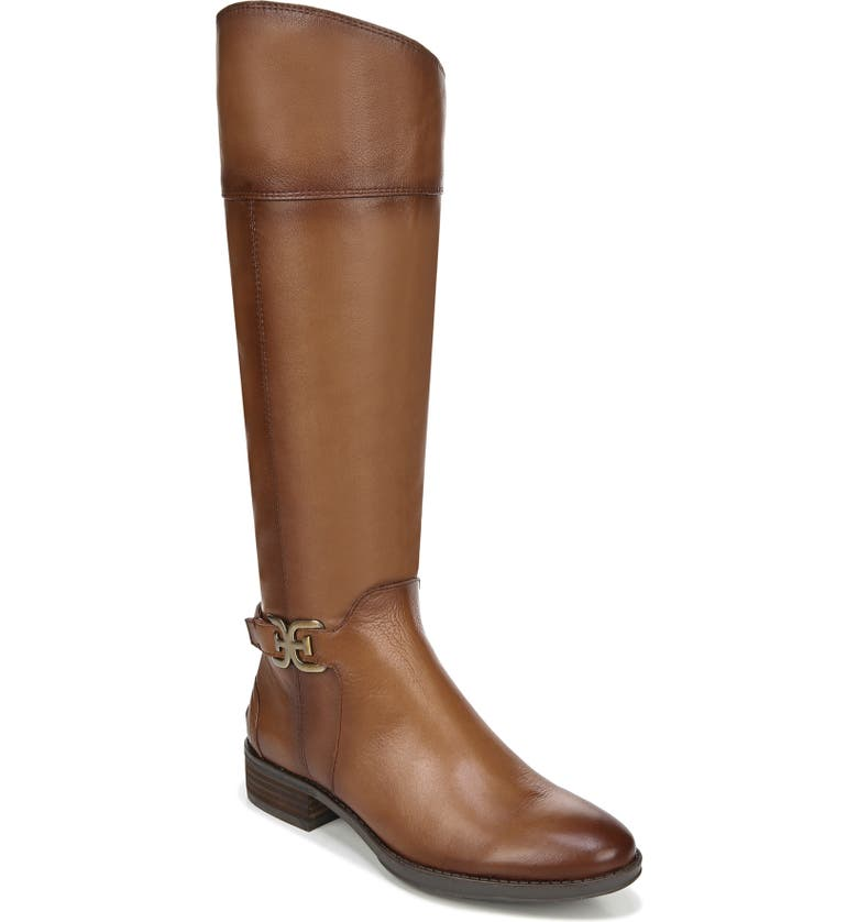SAM EDELMAN Prisilla Knee High Boot, Main, color, WHISKEY LEATHER