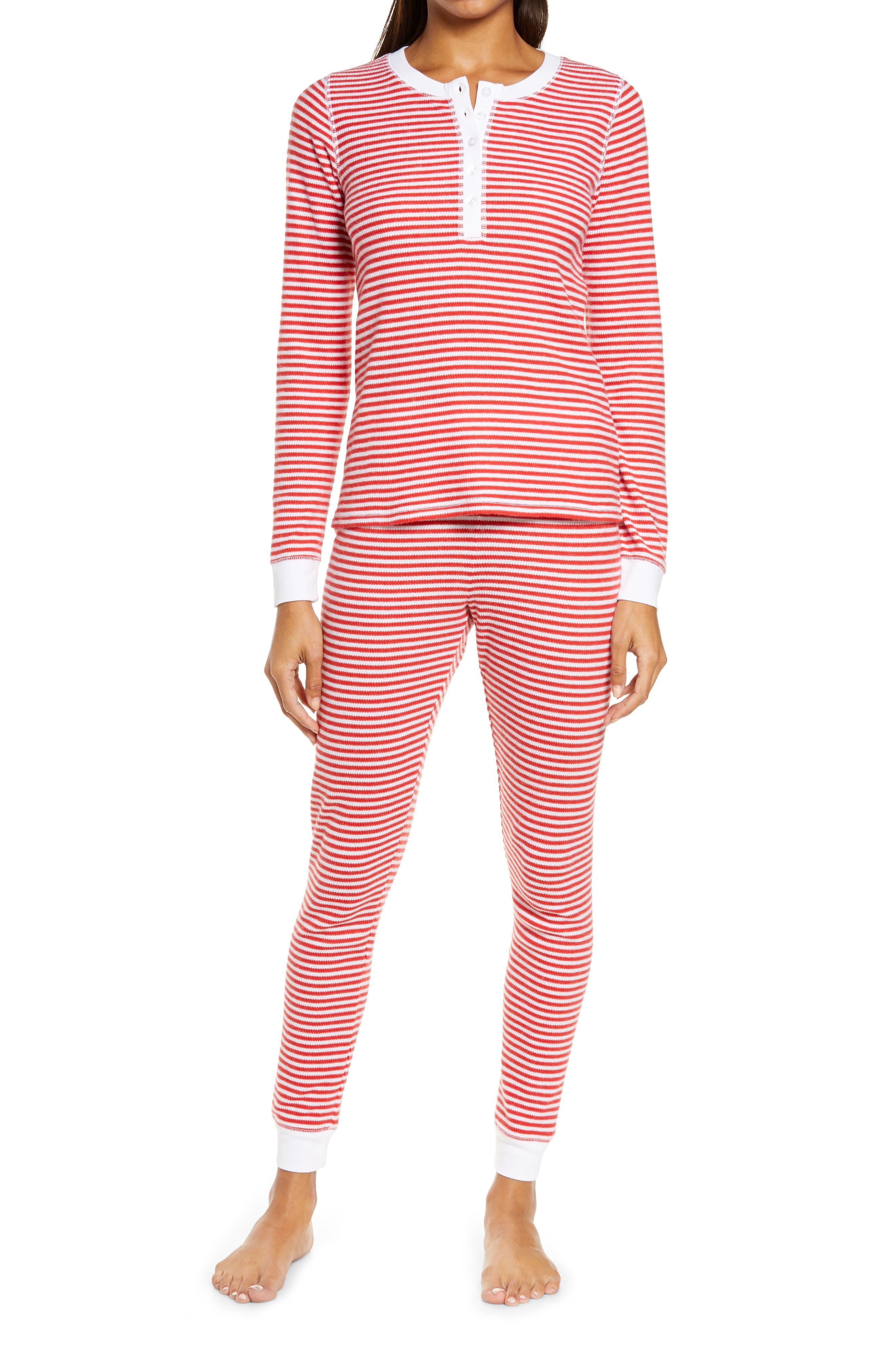 Image of Nordstrom Fam Jam Two-Piece Thermal Pajamas