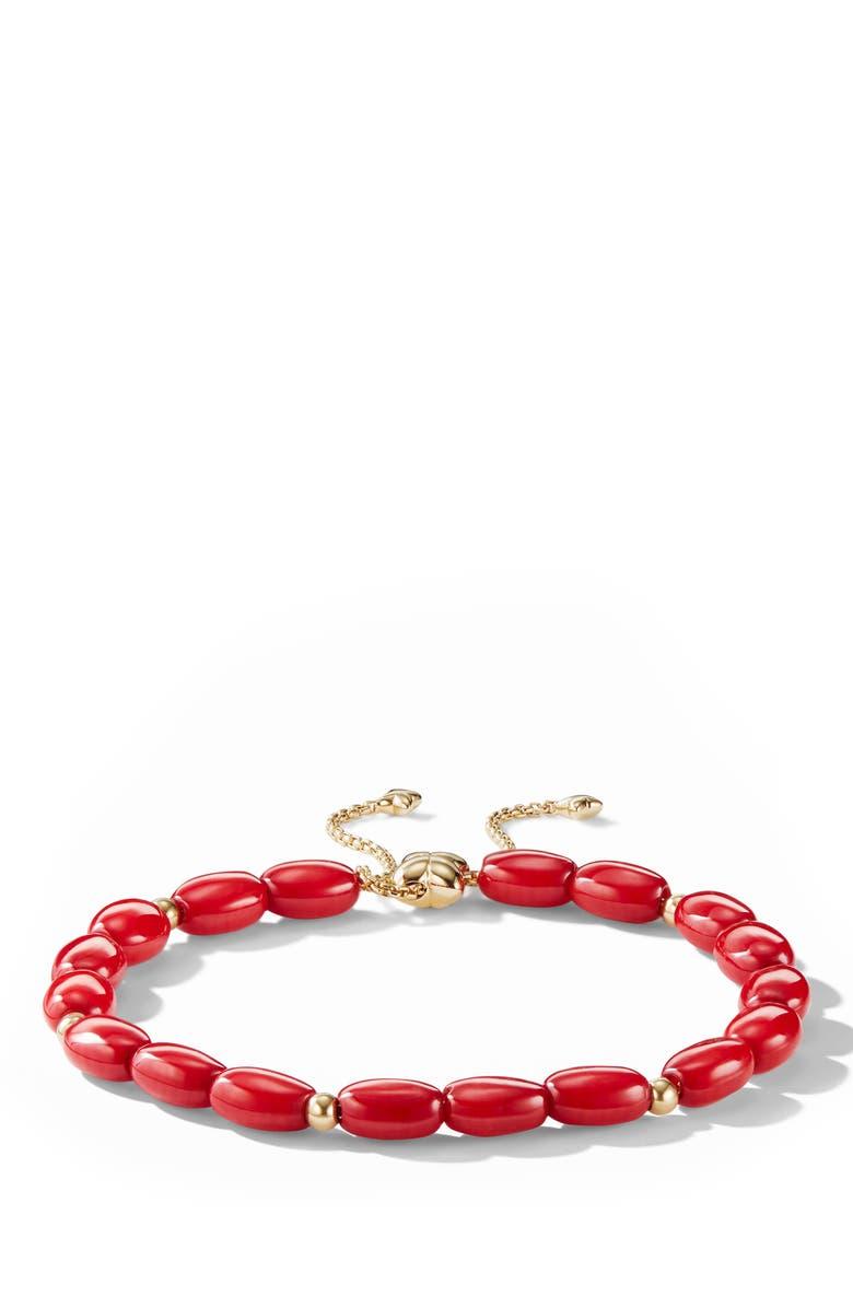 DAVID YURMAN Spiritual Bead Bracelet with 18k Gold, Main, color, DYED SEA BAMBOO