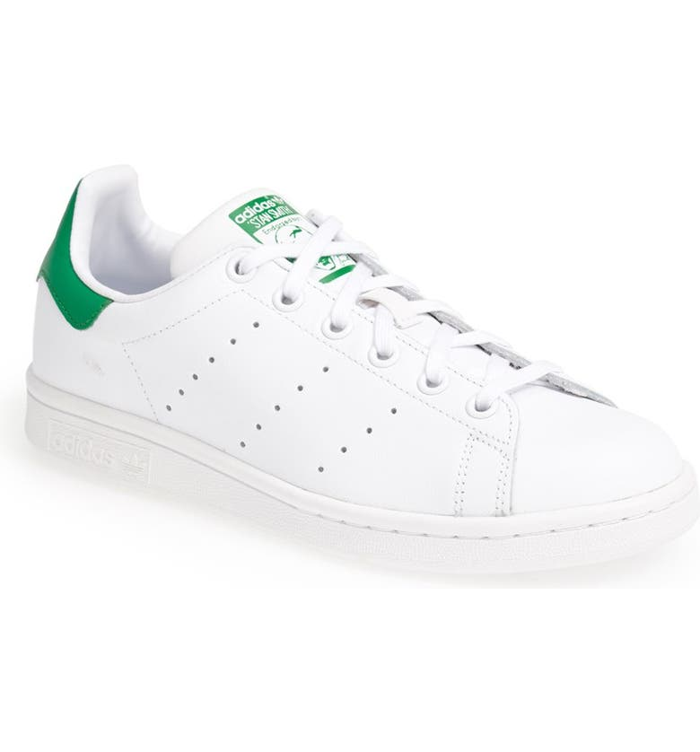 ADIDAS 'Stan Smith' Leather Sneaker, Main, color, CORE WHITE/ GREEN
