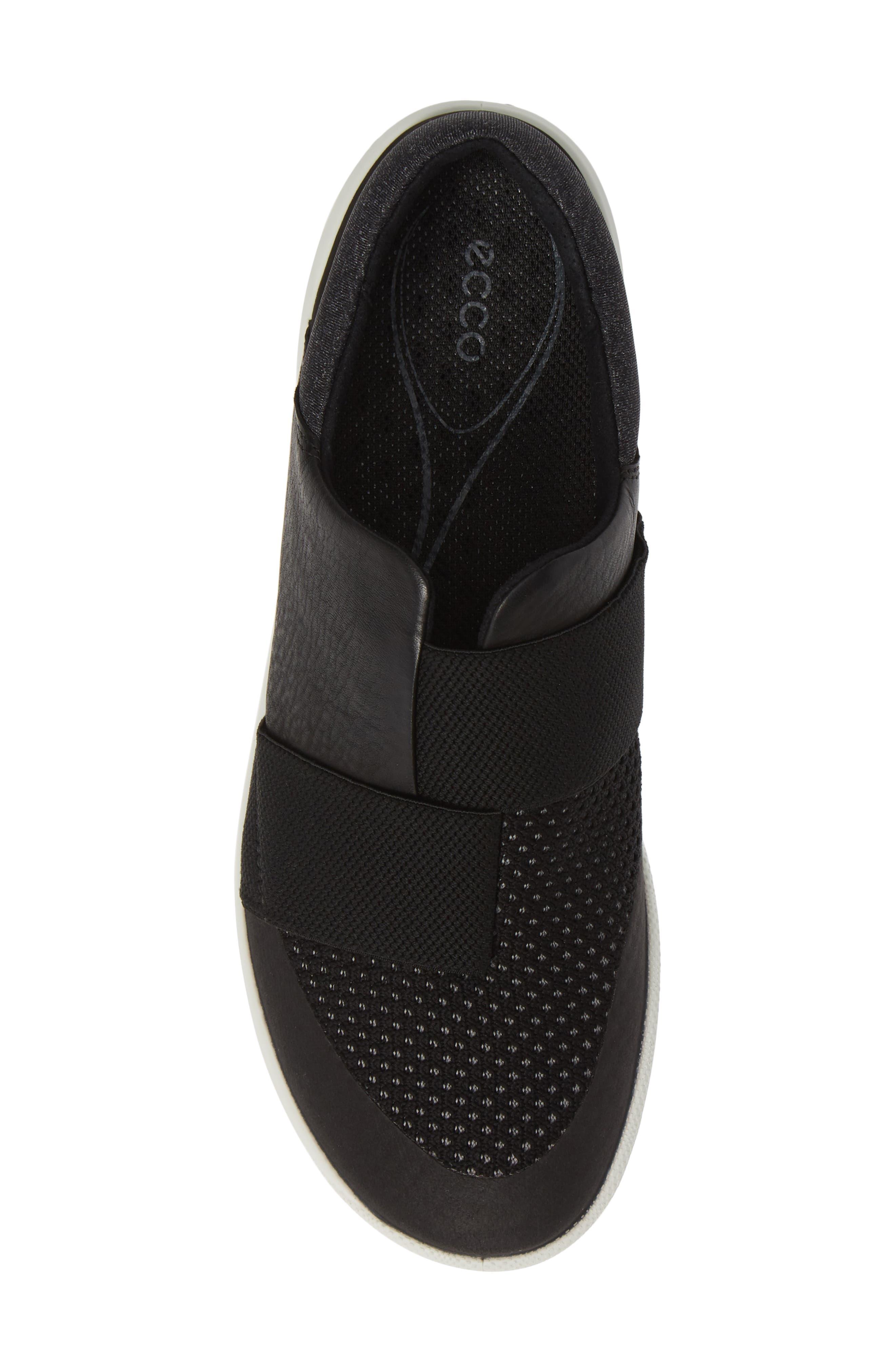 ,                             BIOM Slip-On Sneaker,                             Alternate thumbnail 5, color,                             BLACK LEATHER
