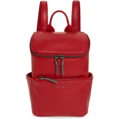 Matt & Nat Mini Brave Faux Leather Backpack - Red