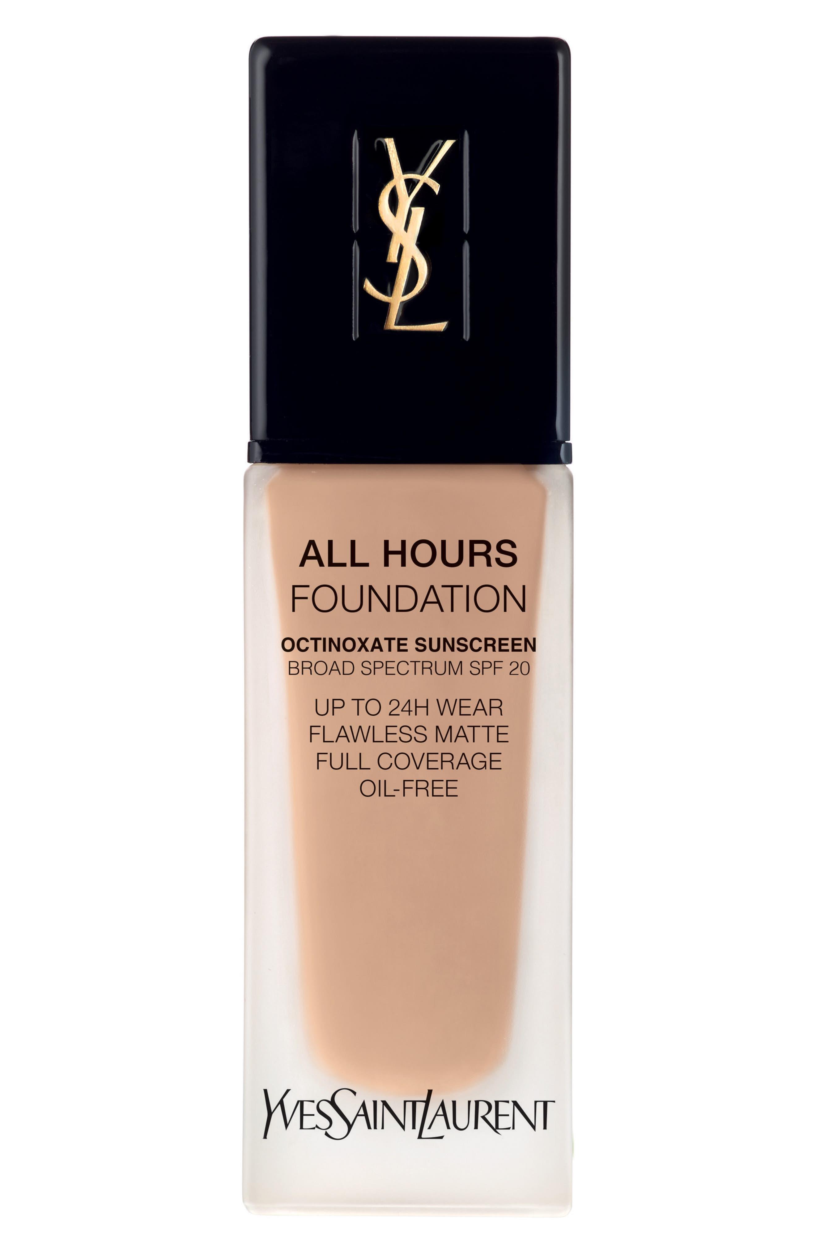 Yves Saint Laurent All Hours Full Coverage Matte Foundation Spf 20 - B40 Sand