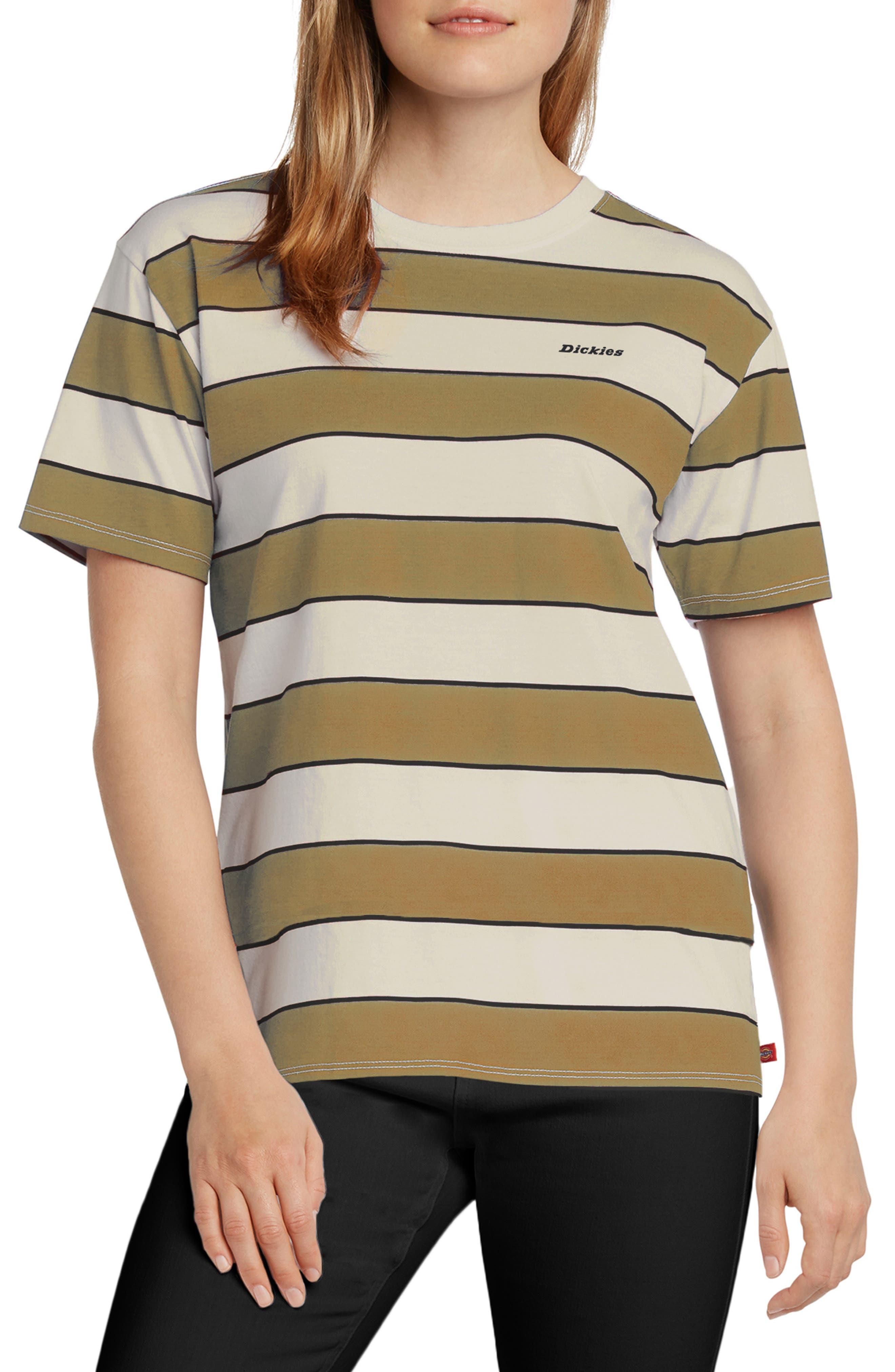 Stripe Boyfriend Cotton T-Shirt