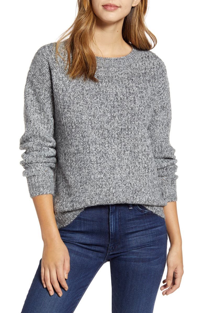 CASLON<SUP>®</SUP> Fluffy Sweater, Main, color, 021