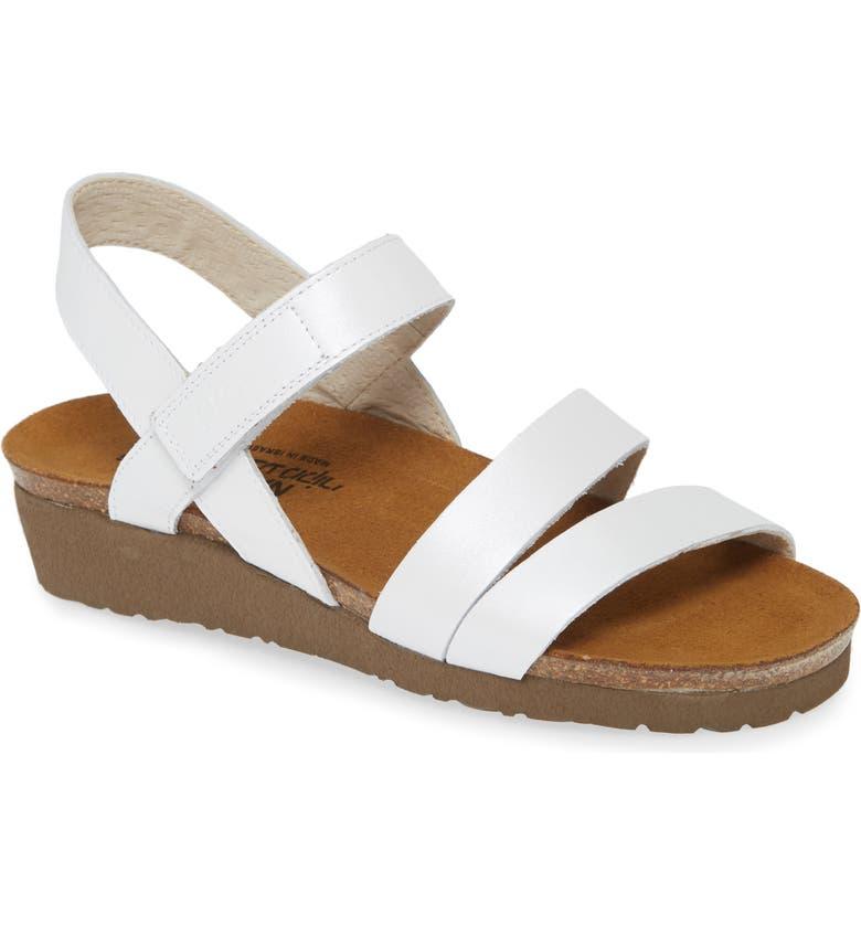 NAOT 'Kayla' Sandal, Main, color, WHITE PEARL LEATHER