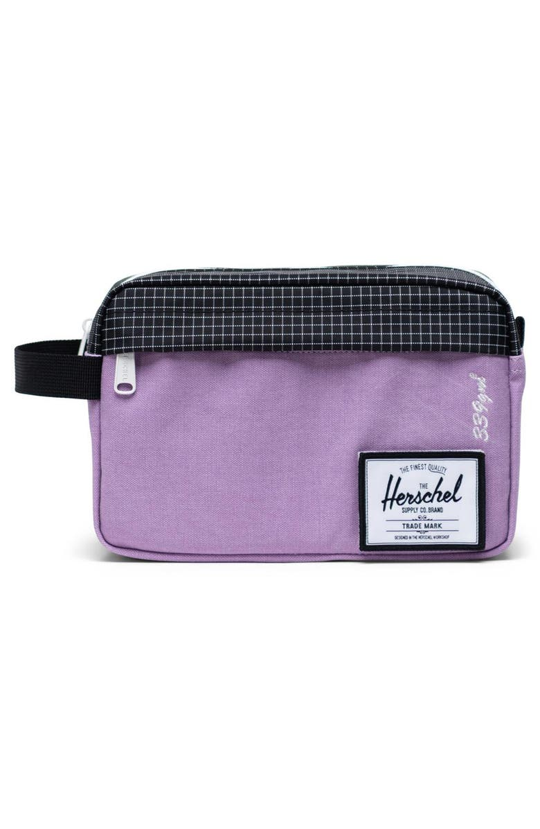 HERSCHEL SUPPLY CO. Chapter Toiletry Case, Main, color, REGAL ORCHID/ BLACK