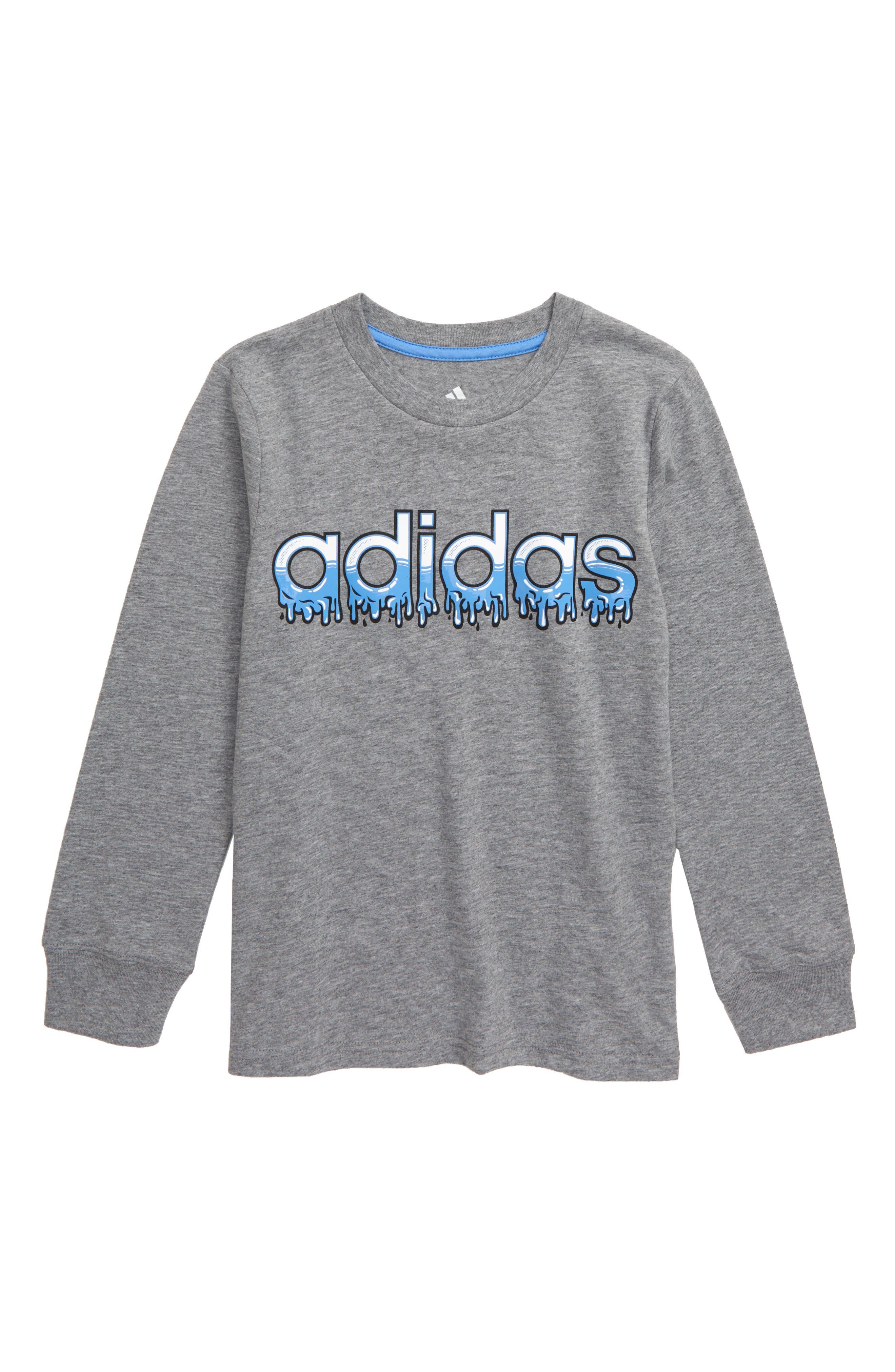 adidas Boys Core Graphic Long Sleeve Tee Shirt