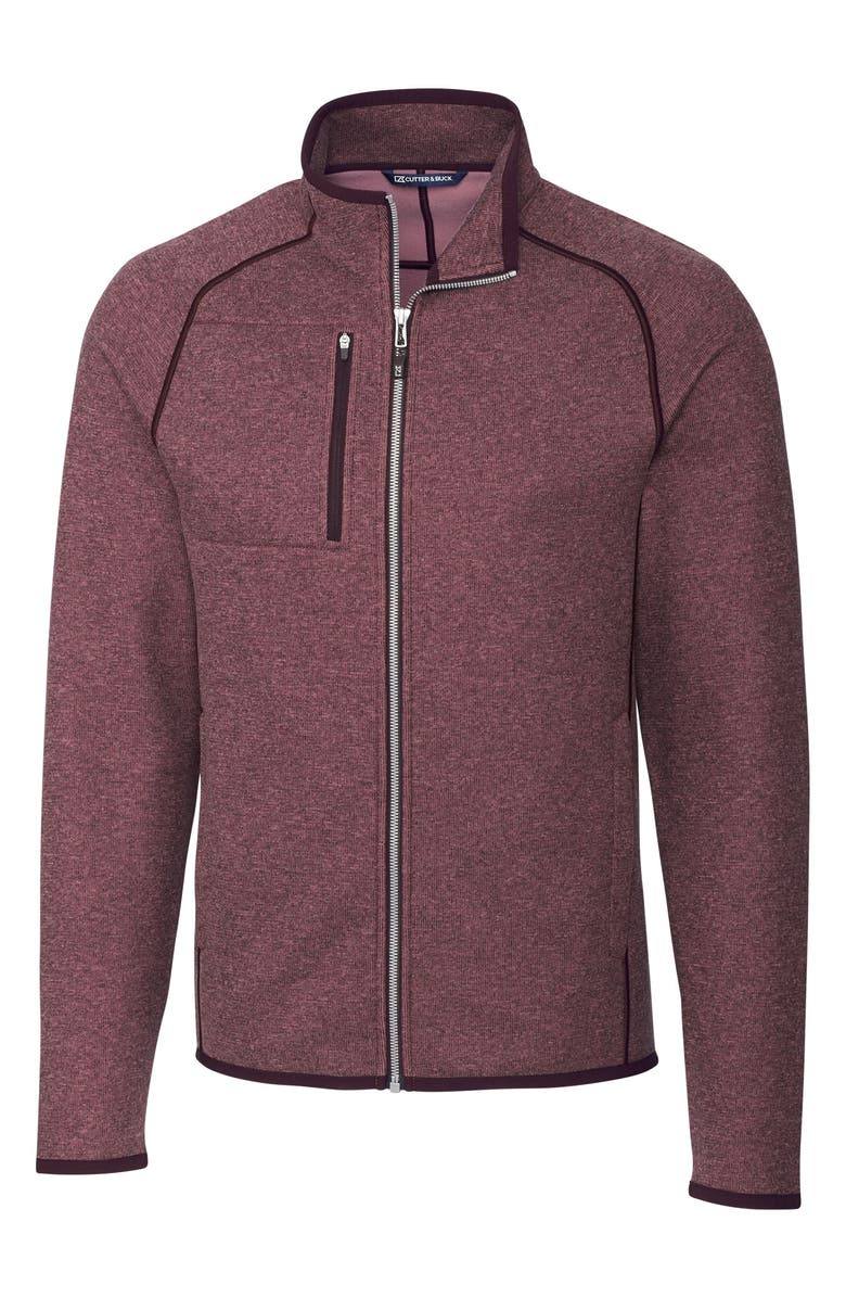 CUTTER & BUCK Mainsail Zip Jacket, Main, color, BORDEAUX HEATHER