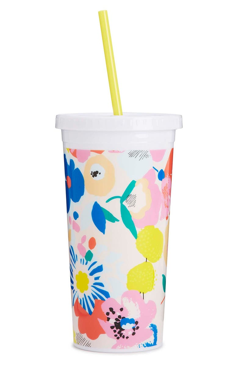 BAN.DO 'Sip Sip - Mega Blooms' Travel Tumbler, Main, color, 650