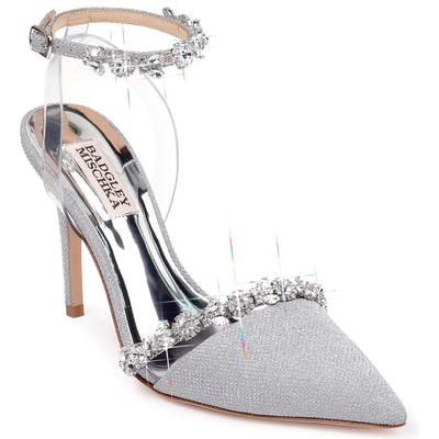 Badgley Mischka Adelina Ankle Strap Pump, Metallic