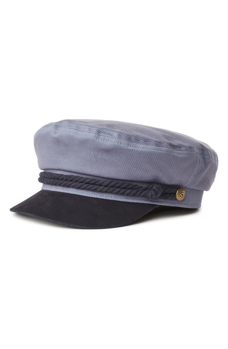 BRIXTON Fiddler Cap, Main, color, SLATE/ NAVY