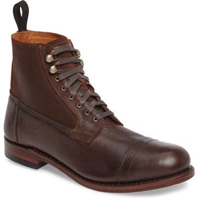 Frye Garrison Cap Toe Boot, Brown