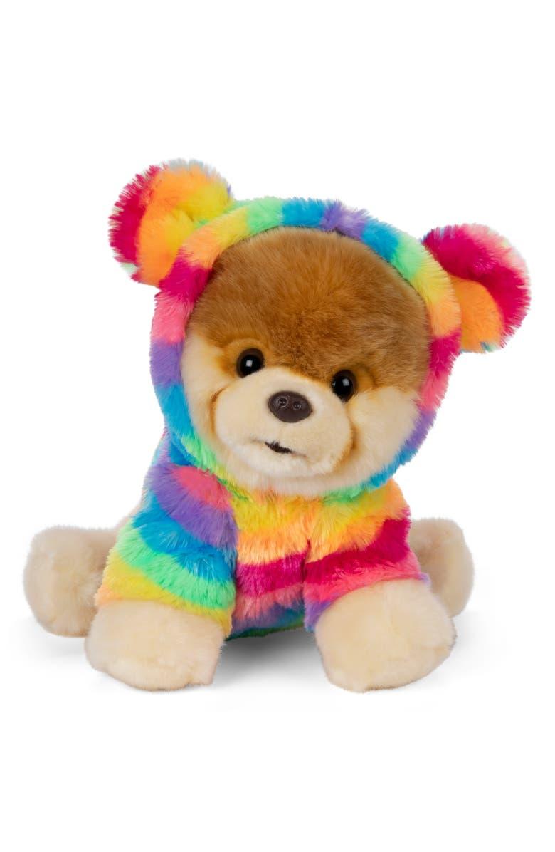 GUND Boo Rainbow Coat Stuffed Animal, Main, color, RAINBOW