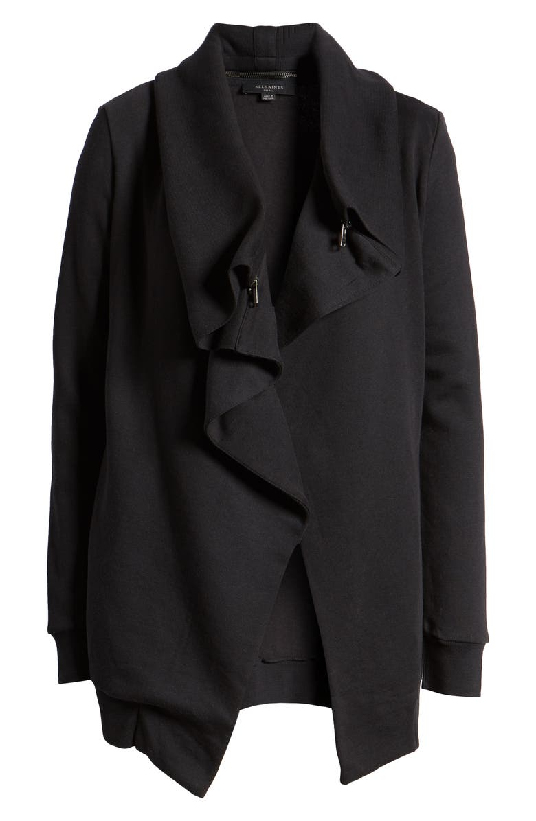 ALLSAINTS Dahlia Sweatshirt, Alternate, color, BLACK