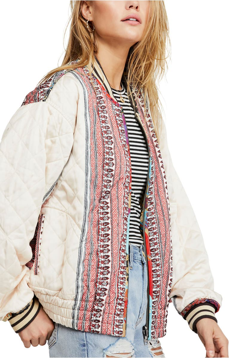 FREE PEOPLE Pandora Quilted Reversible Bomber Jacket, Main, color, 900