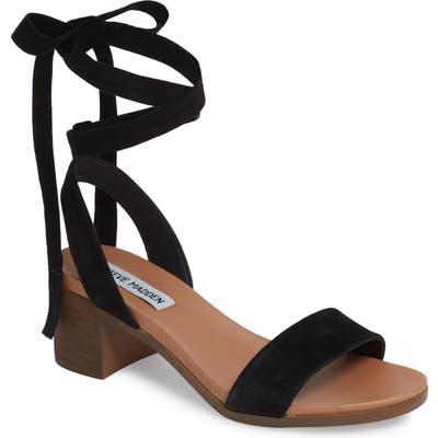 Steve Madden Adrianne Ankle Wrap Sandal, Black