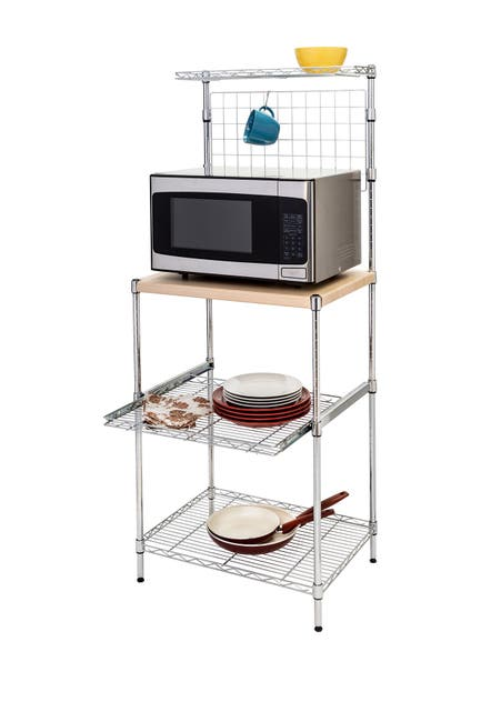Image of Honey-Can-Do Chrome Baker's Rack & Cutting Board