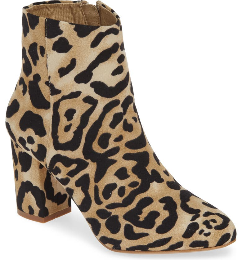 BAND OF GYPSIES Andrea Bootie, Main, color, NATURAL/ BLACK LEOPARD PRINT