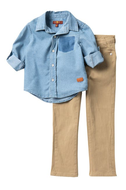 Image of 7 For All Mankind 2-Piece Twill Set