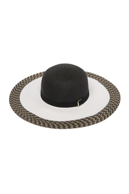 Image of Kyi Kyi Patterned Buckle Straw Hat