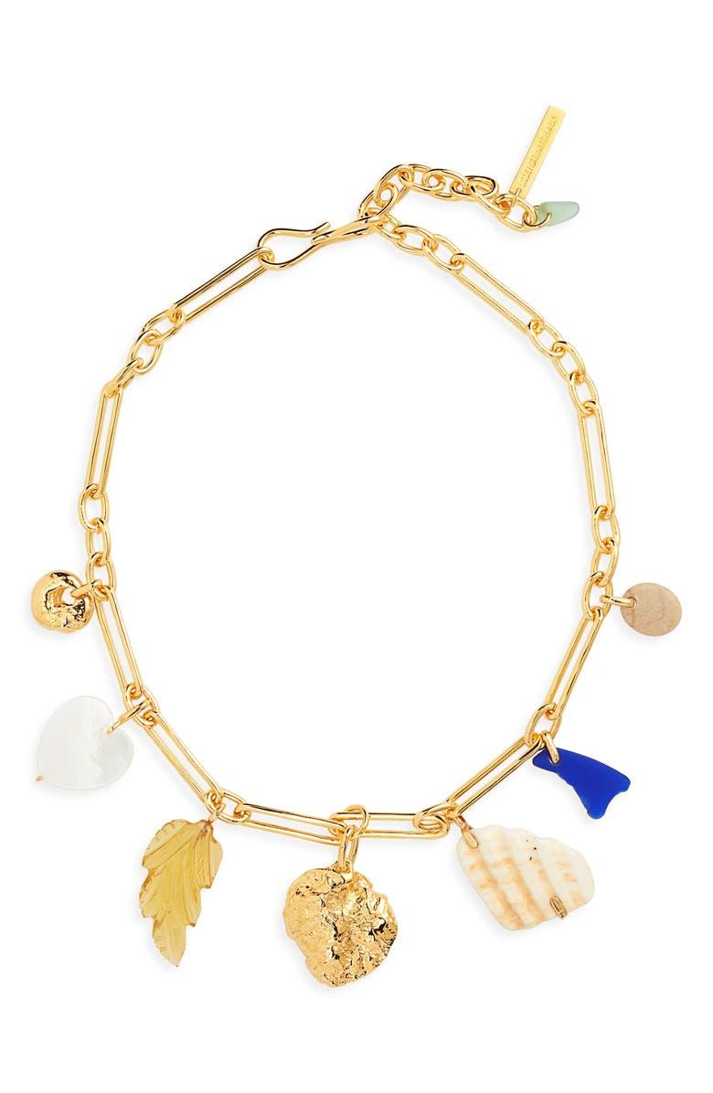 LIZZIE FORTUNATO Paradise Charm Necklace, Main, color, MULTI/ GOLD