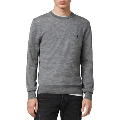 Allsaints Mode Slim Fit Merino Wool Sweater, Grey