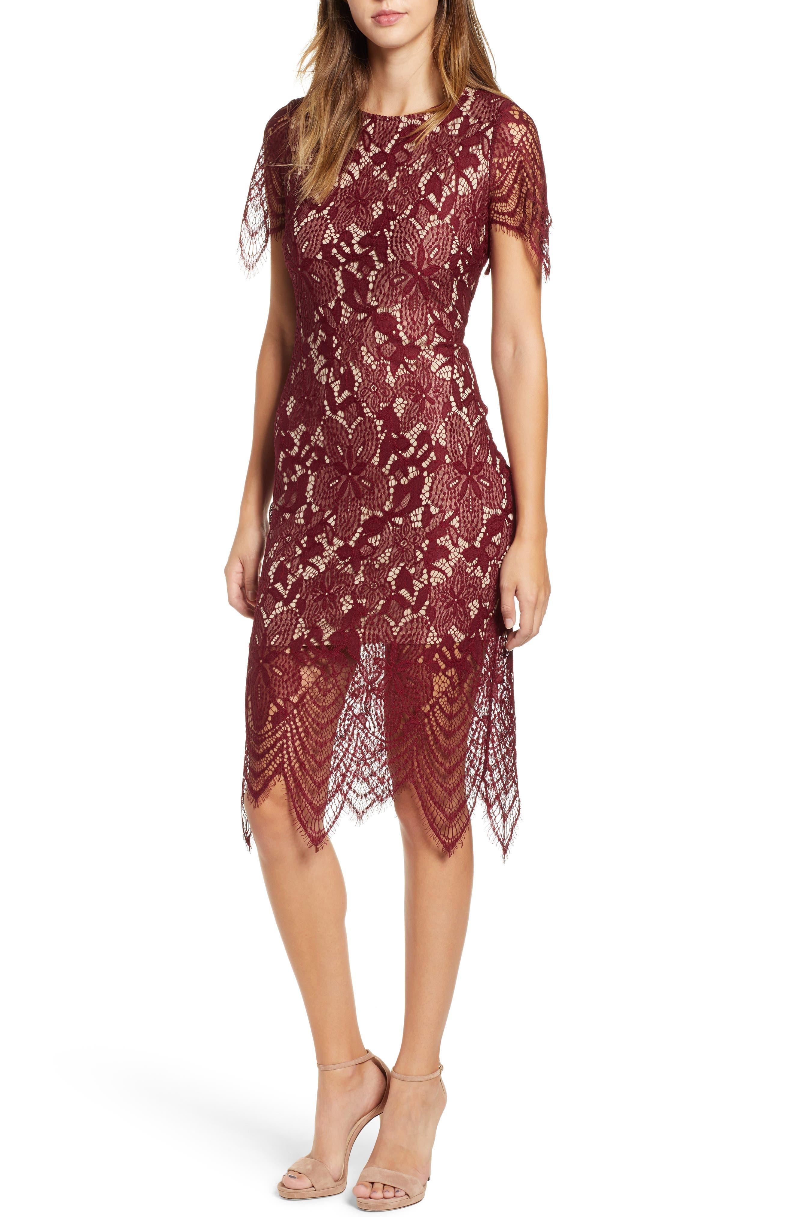 ,                             Scallop Lace Dress,                             Main thumbnail 9, color,                             930