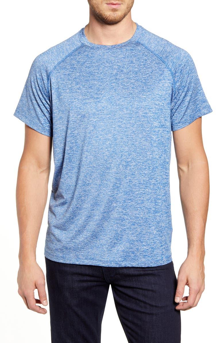 BUGATCHI Raglan Sleeve Performance T-Shirt, Main, color, ROYAL