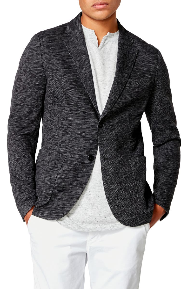 GOOD MAN BRAND Slim Fit Vintage Twill Knit Sport Coat, Main, color, 001