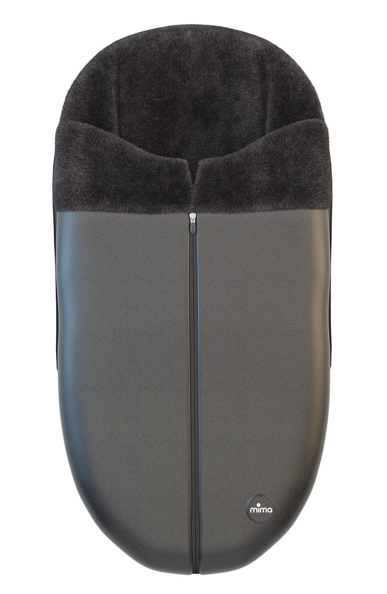 MIMA Faux Leather Footmuff for Xari Stroller, Main, color, BLACK
