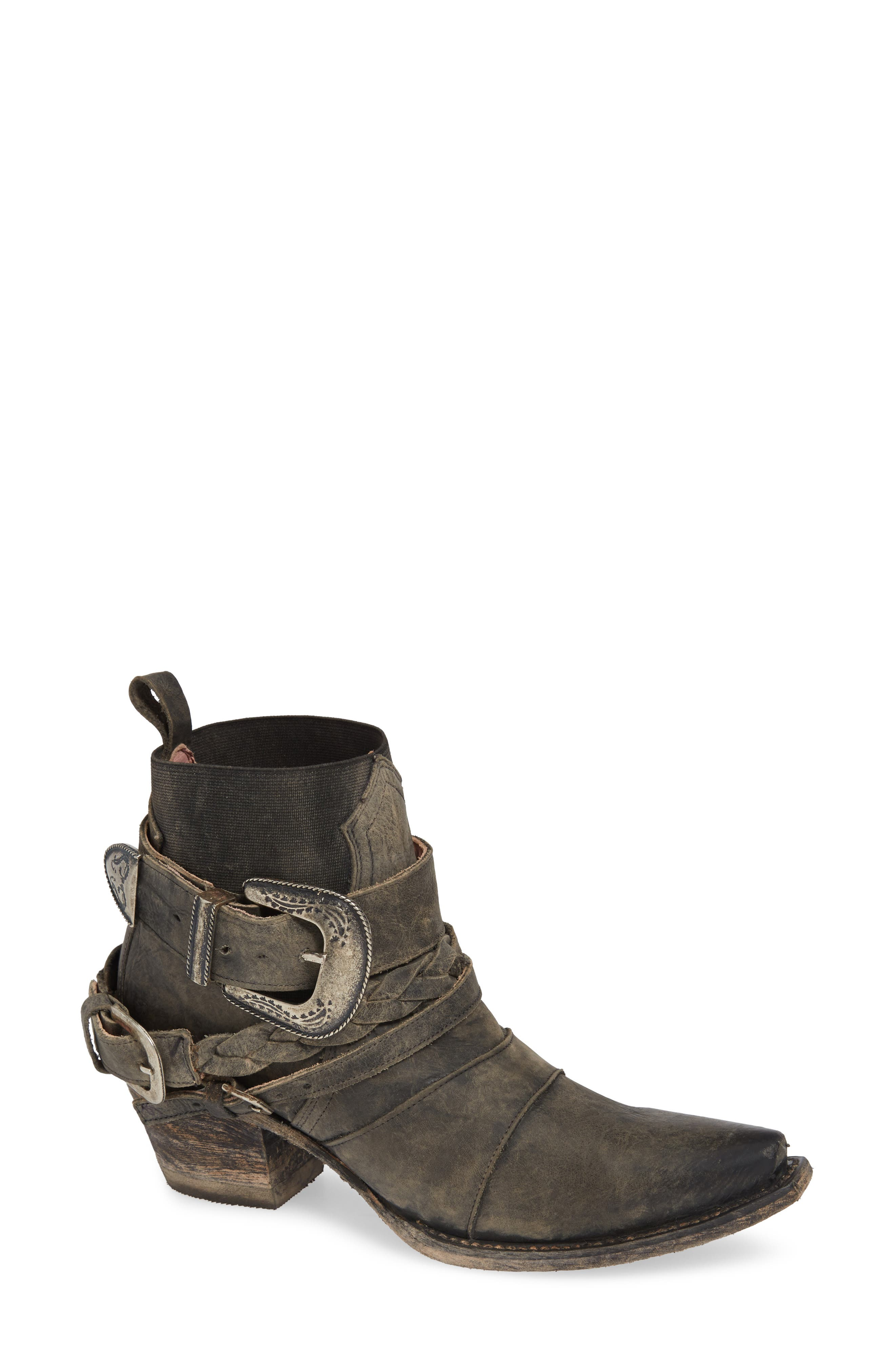 ,                             x Junk Gypsy HWY 237 Bootie,                             Main thumbnail 1, color,                             BLACK LEATHER