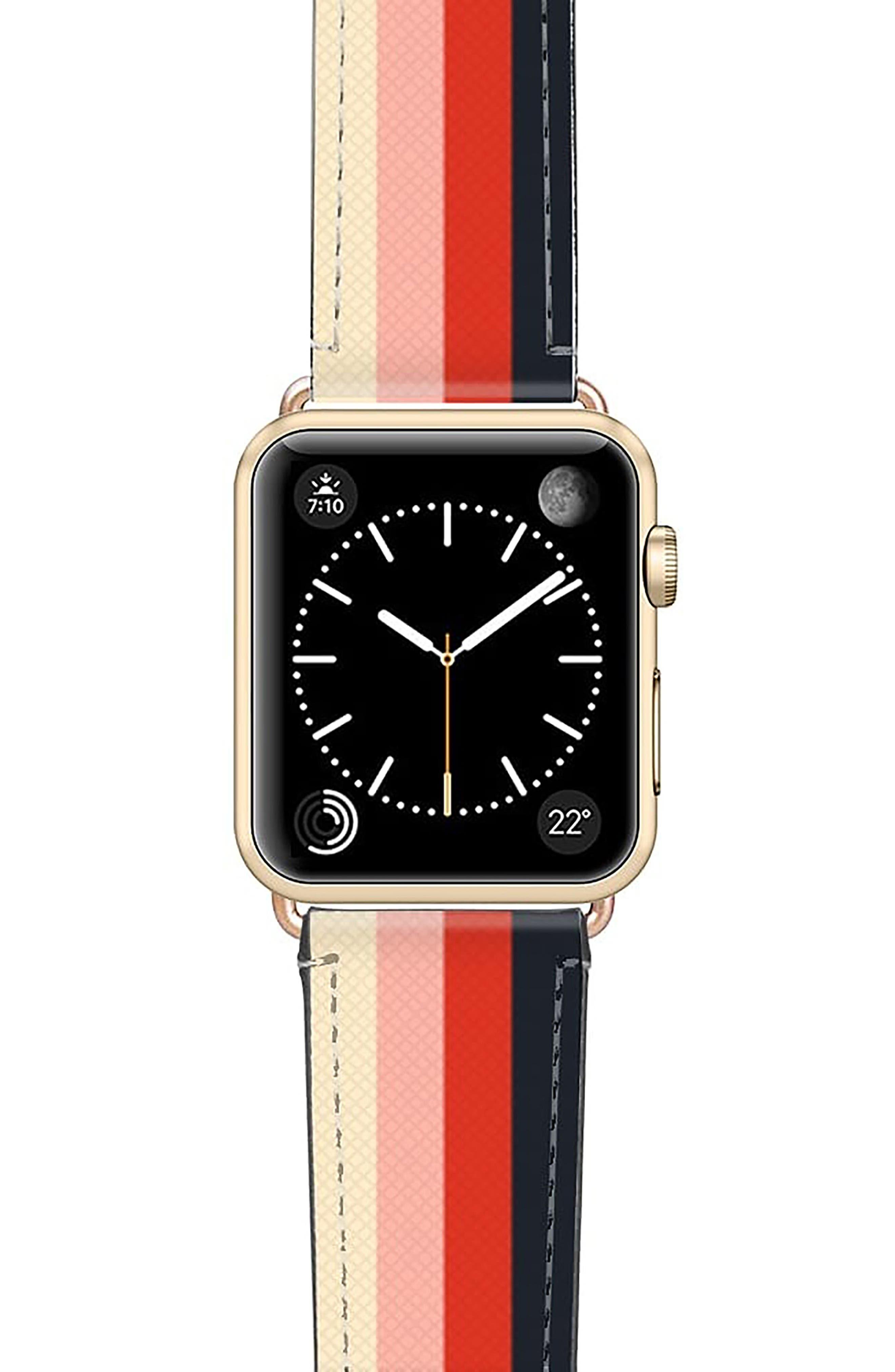 Rad Retro Saffiano Faux Leather Apple Watch Strap