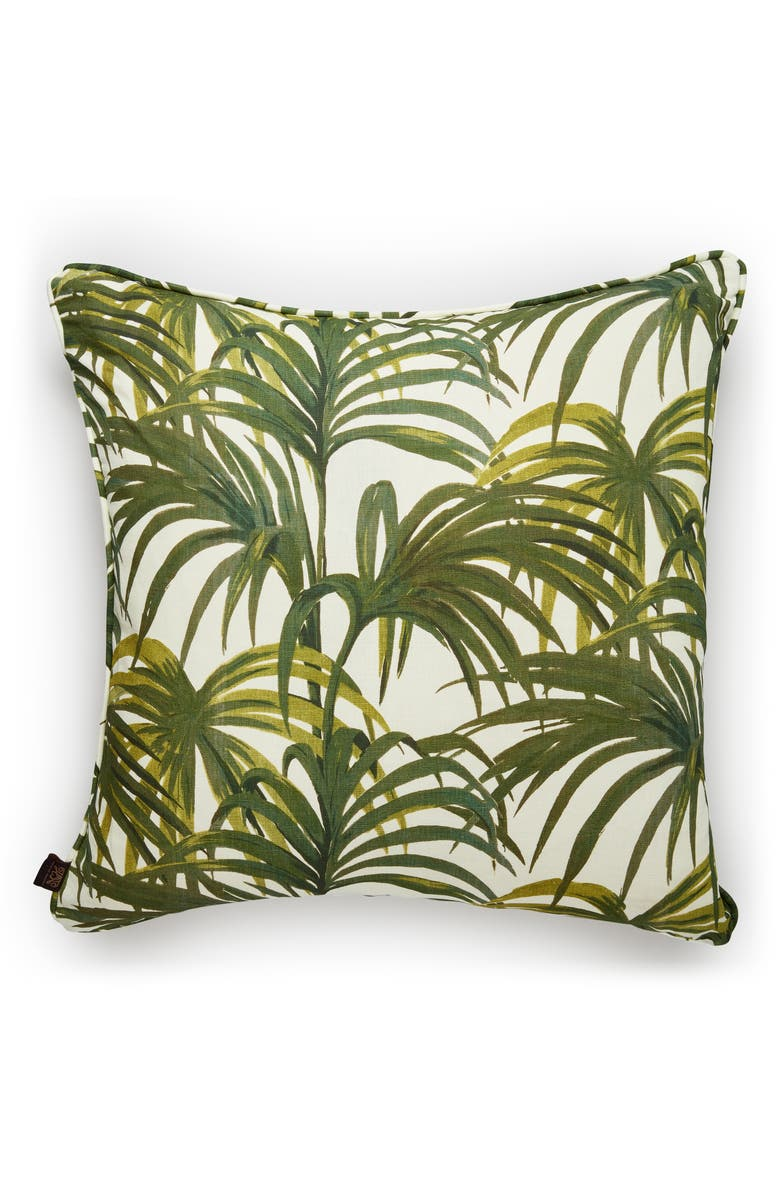 HOUSE OF HACKNEY Palmeral Accent Pillow, Main, color, OFF WHITE/ GREEN