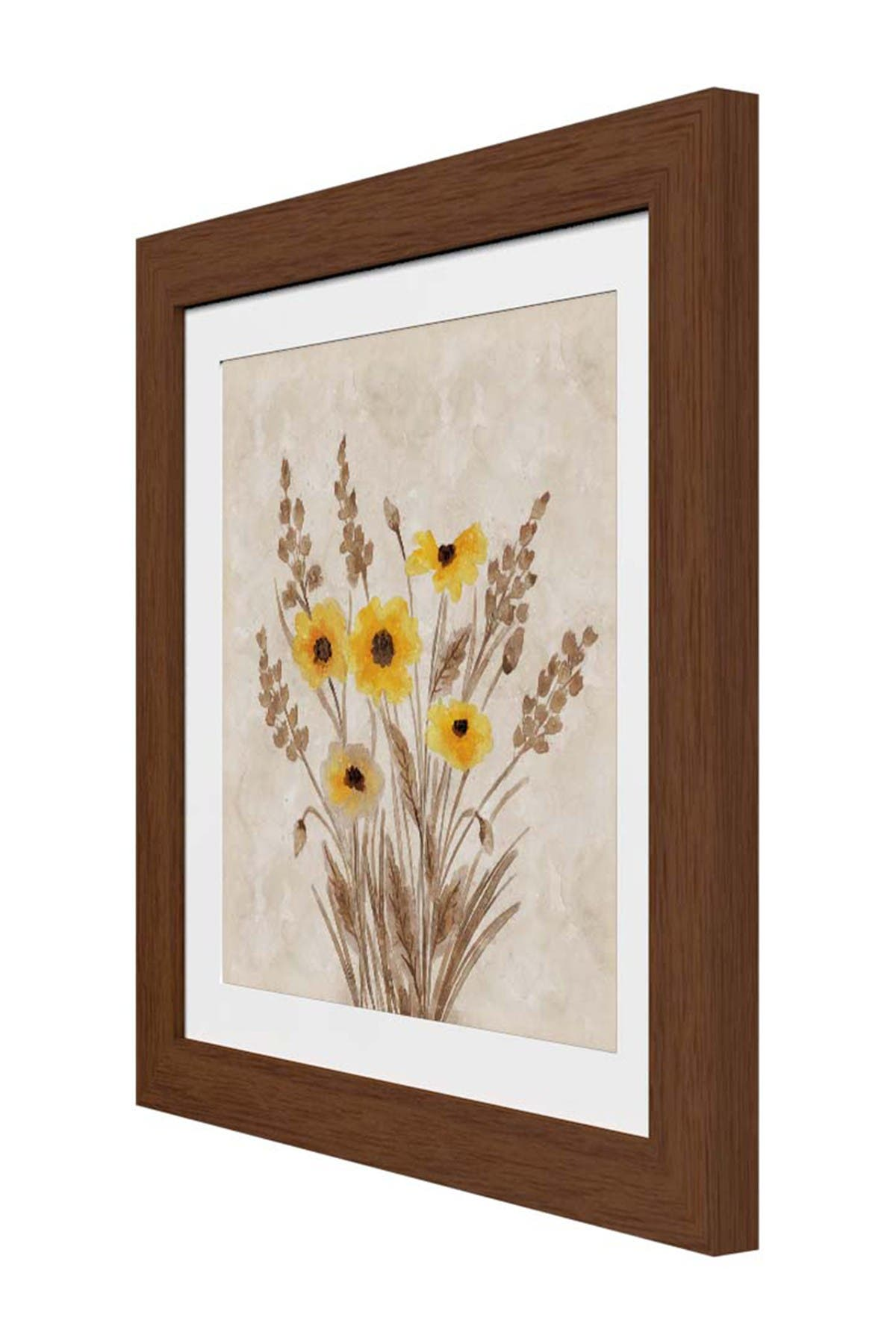 PTM Images Autumn Bouquet Rustic Wood Framed & Matted Giclee