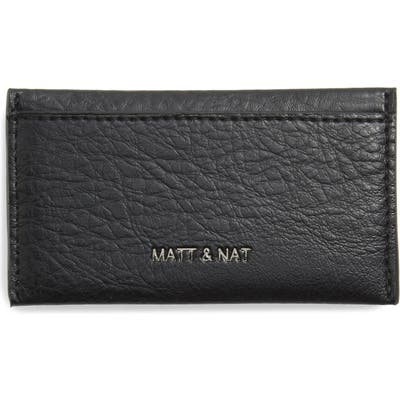 Matt & Nat Sal Faux Leather Card Case - Black