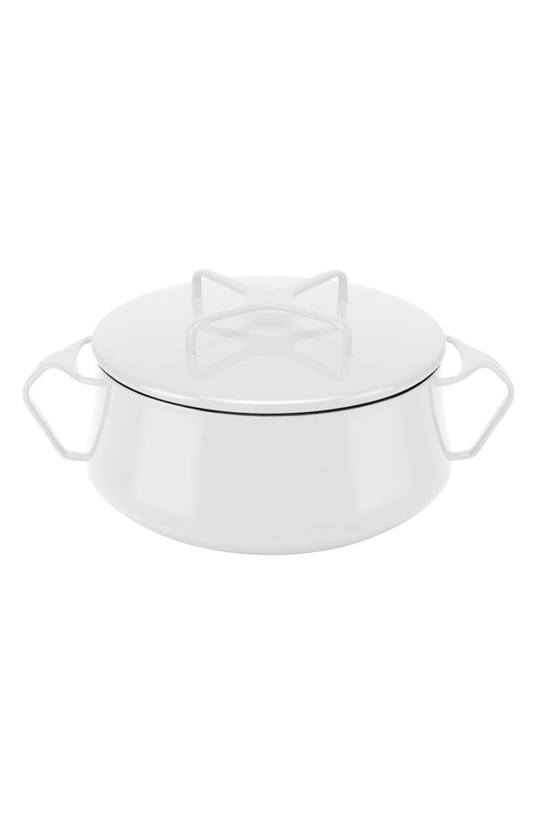 DANSK Kobenstyle 2-Quart Casserole Dish with Lid, Main, color, WHITE