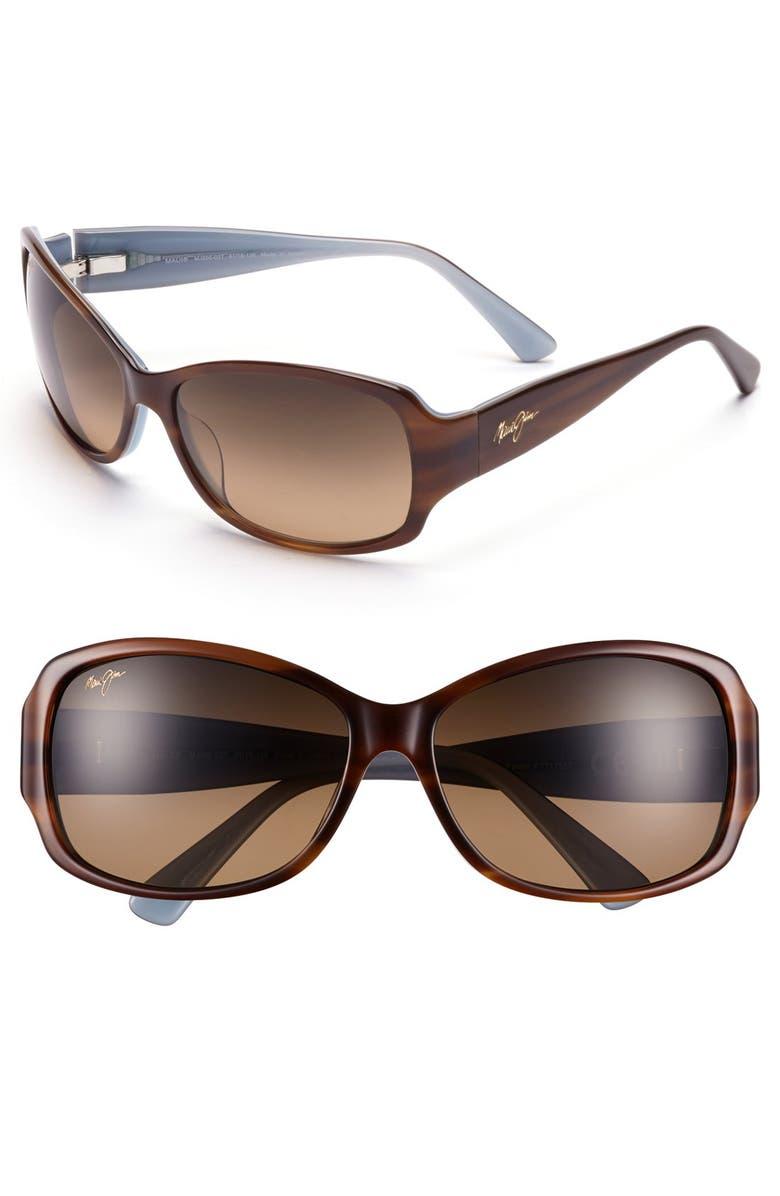 MAUI JIM Nalani 61mm PolarizedPlus2<sup>®</sup> Sunglasses, Main, color, TORTOISE/ WHITE/ BLUE