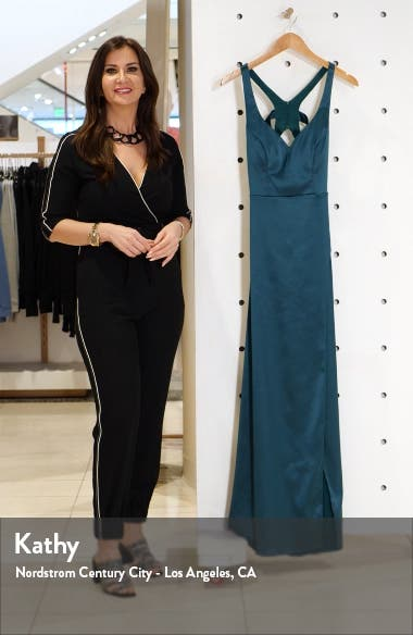 Cage Back Satin Gown, sales video thumbnail