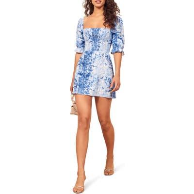 Reformation Cerise Dress, Blue