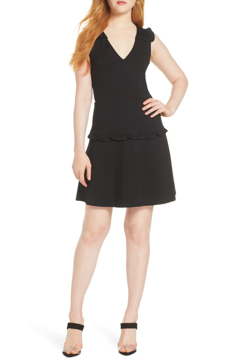 ALI & JAY Work It Own It Fit & Flare Dress, Main, color, BLACK