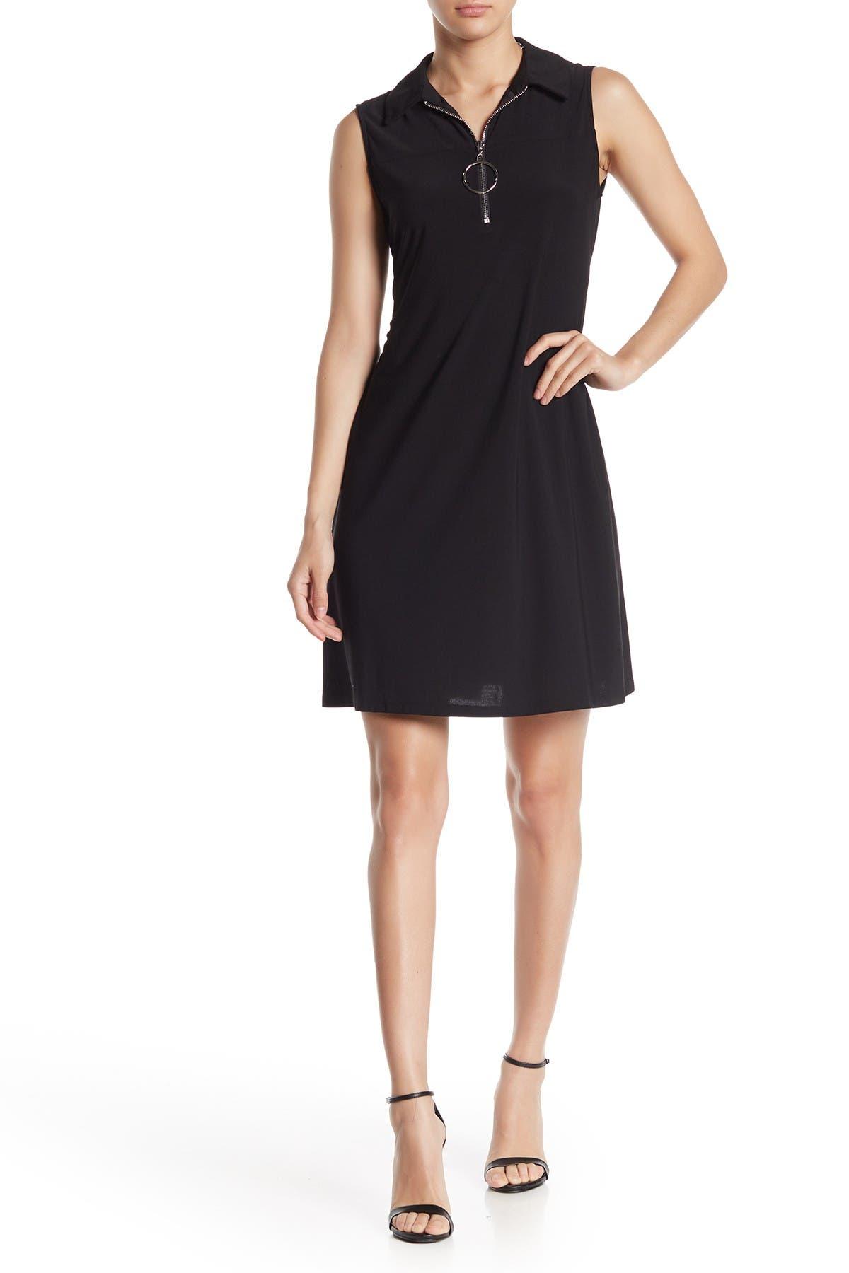 Image of MSK Quarter Zip Sleeveless Mini Dress