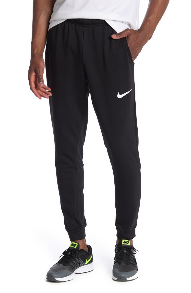 NIKE Tapered Jogger Pants, Main, color, BLACK/WHITE