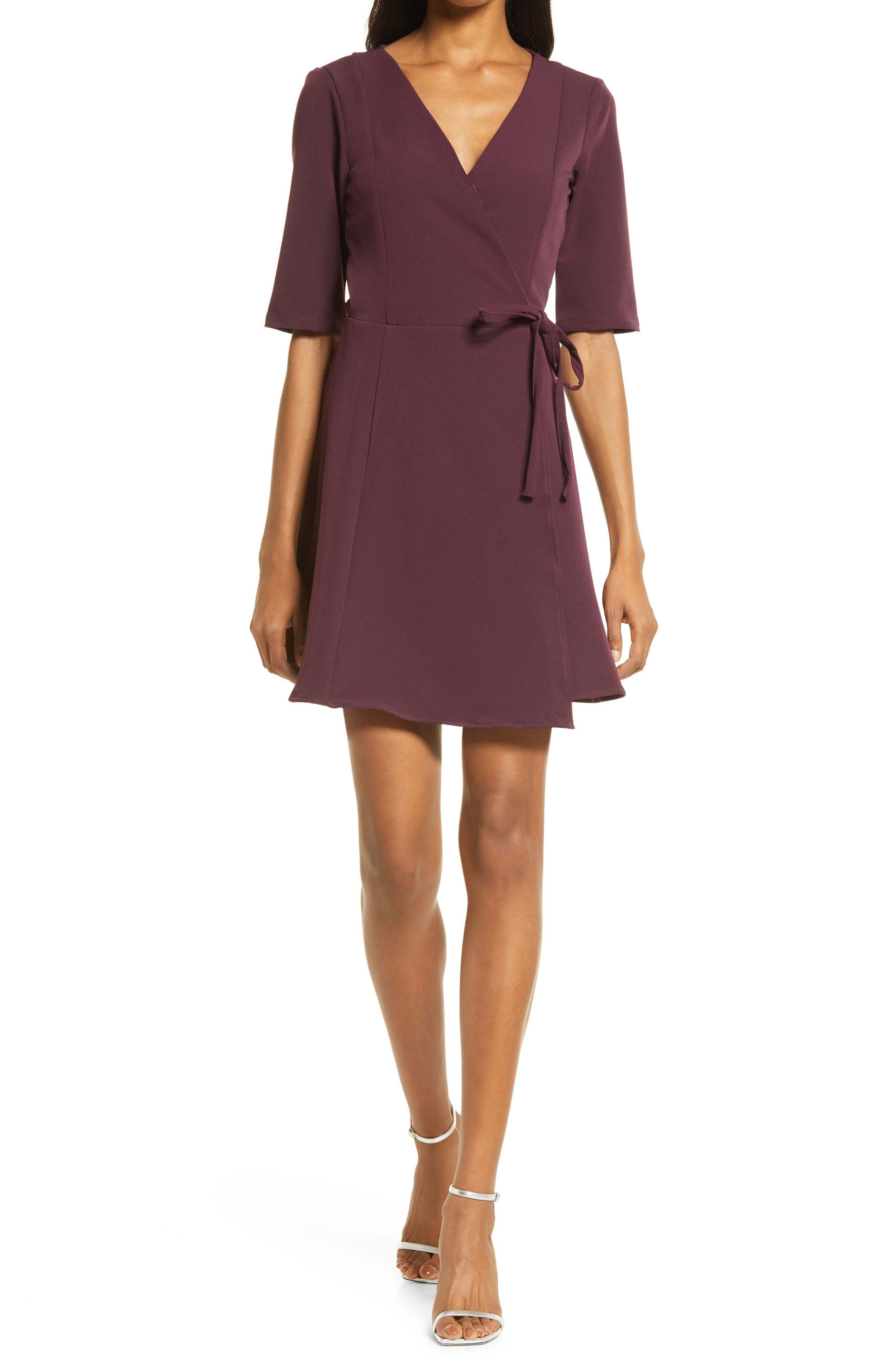 In Your Life Wrap Minidress