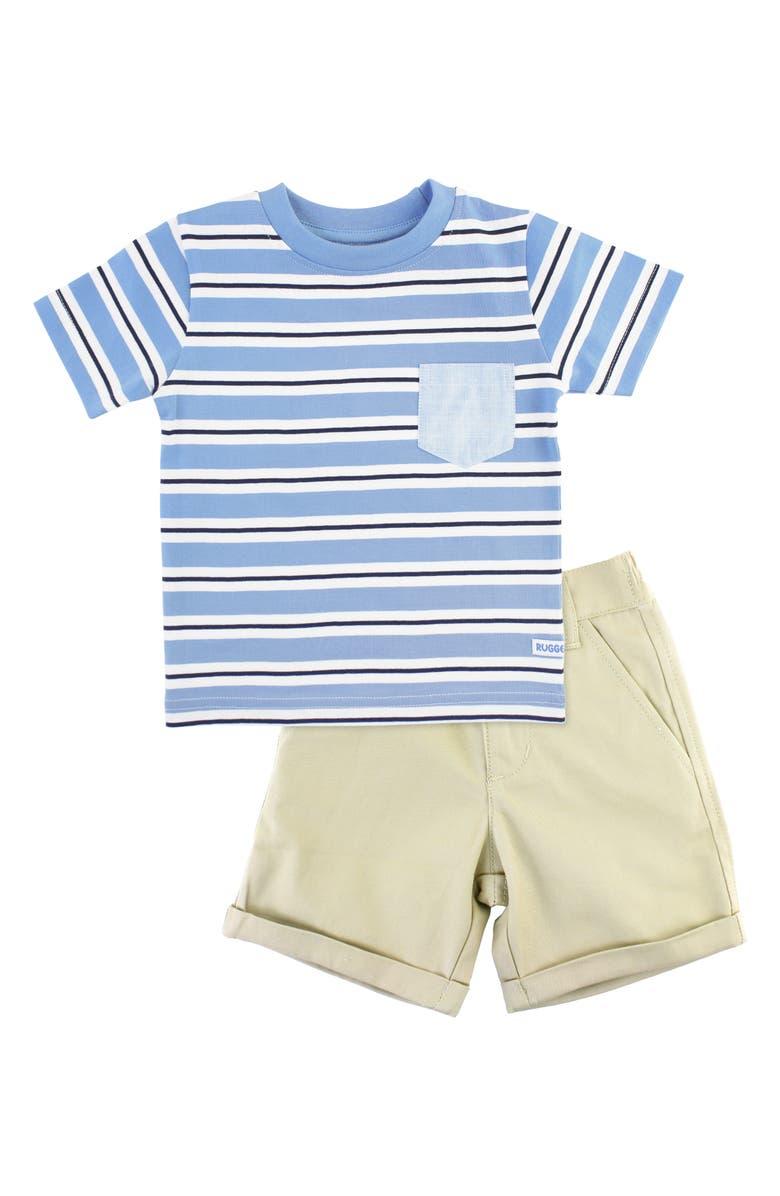 RUGGEDBUTTS Pocket T-Shirt & Shorts Set, Main, color, BLUE