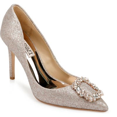 Badgley Mischka Cher Crystal Embellished Pump- Pink