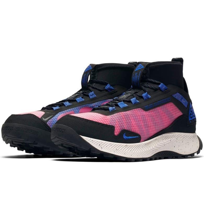 NIKE ACG Zoom Terra Zaherra Water Repellent Trail Sneaker, Main, color, RUSH PINK/ RACER BLUE-BLACK